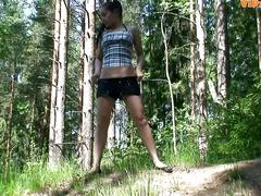 Cam hidden in woods