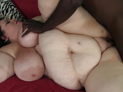 BBW sucks black cock