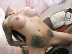 Hottie with pierced clit