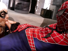 Lexi Swallows SpiderMan 2