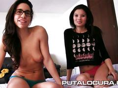 Two naughty girls fuck