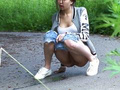 Sexy teen wetting