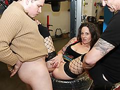 Anal escort in the garage