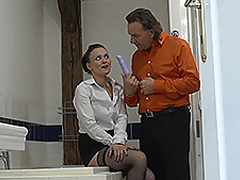 Naughty maid gets a good hard fucking